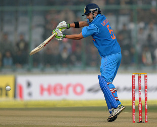 Gautam Gambhir plays a ball wide of off stump, India v Pakistan, 3rd ODI, Delhi, January 6, 2013