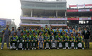 The Pakistan team poses for a photograph