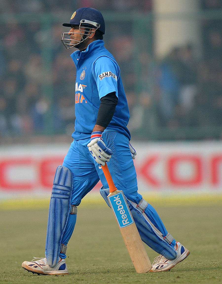 MS Dhoni was dismissed for 36