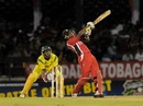Dwayne Bravo pulls during his knock of 30, Trinidad & Tobago v Jamaica, Caribbean T20, Port of Spain, January 6, 2013