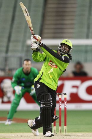 Chris Gayle reached his 50 off 25 balls, Melbourne Stars v Sydney Thunder, Big Bash League, MCG, January 8, 2013