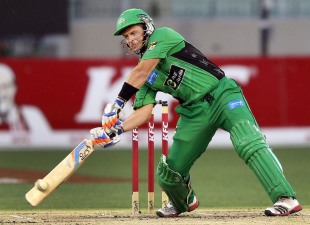 Brad Hodge top scored for his side with 39, Melbourne Stars v Sydney Thunder, Big Bash League, MCG, January 8, 2013