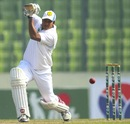 Sajedul Islam drives one through the off side, North Zone v South Zone, BCL 2012-13, 1st day, January 8, 2013