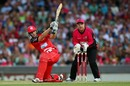 Alex Hales smashes one through the leg side, Sydney Sixers v Melbourne Renegades, BBL 2012-13, January 9, 2013