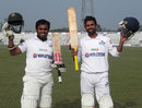 Mehrab Hossain jnr and Marshall Ayub scored double-hundreds in a record unbeaten stand, Central Zone v East Zone, BCL, 2nd day, Bogra, January 9, 2013