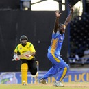 Carlos Brathwaite appeals for a wicket, Barbados v Jamaica, Caribbean T20 2012-13, Trinidad, January 8, 2013