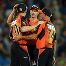 Perth Scorchers celebrate their 98-run win over Adelaide Strikers, Adelaide Strikers v Perth Scorchers, BBL 2012-13, Adelaide, January 10, 2013