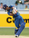 Dinesh Chandimal plays an aggressive shot