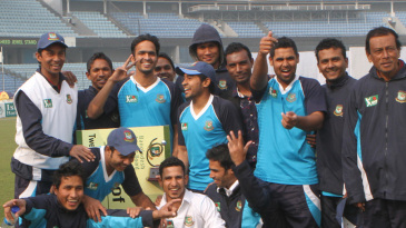 North Zone players celebrate their victory over South Zone