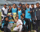 North Zone players celebrate their victory over South Zone, North Zone v South Zone, Bangladesh Cricket League, Mirpur, January 11, 2013.