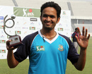 Saqlain Sajib was named Man of the Match, Bangladesh Cricket League, Mirpur, January 11, 2013.