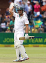 Faf du Plessis punches the air