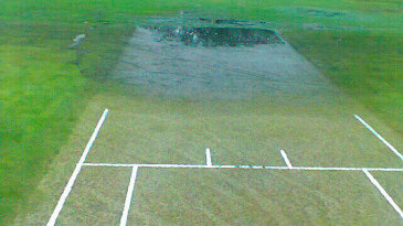 The waterlogged pitch at Triangle Country Club