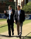 The former NSW Premier Nathan Rees with the NSW Cricket CEO Dave Gilbert, Sydney, November 3, 2008