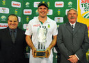 Graeme Smith poses with the series trophy
