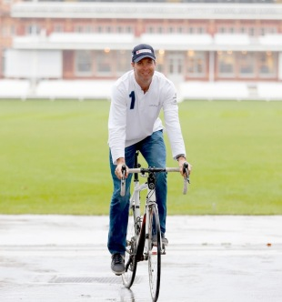 Michael Vaughan launches a charity bike ride, London, January 14, 2013