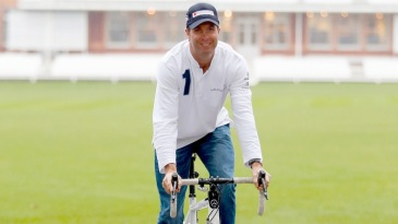 Michael Vaughan launches a charity bike ride