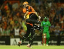 Michael Hussey and Adam Voges celebrate victory, Perth Scorchers v Melbourne Stars, BBL semi-final, Perth, January 16, 2013