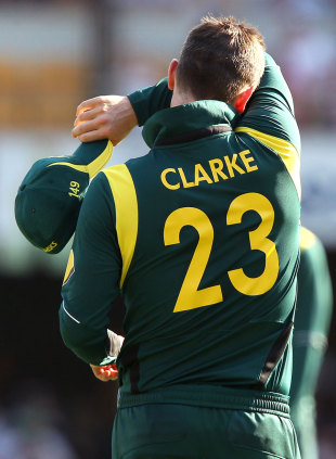 Michael Clarke suffered a difficult return to Australia action, Australia v Sri Lanka, 3rd ODI, Brisbane, January 18, 2013