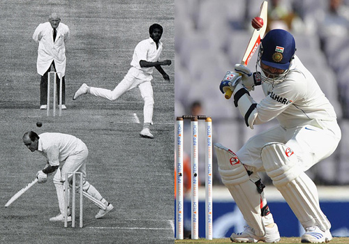 Composite: Brian Close and Virender Sehwag
