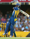 Jeevan Mendis fell to a poorly executed pull shot, Australia v Sri Lanka, 3rd ODI, Brisbane, January 18, 2013