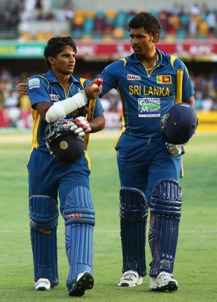 Kushal Perera and Thisara Perera saw Sri Lanka home, Australia v Sri Lanka, 3rd ODI, Brisbane, January 18, 2013