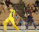 Chris Gayle goes over the top during his 85, Combined Campuses and Colleges v Jamaica, Caribbean T20, St Lucia, January 18, 2013