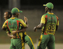Garey Mathurin took two crucial wickets to peg Guyana back