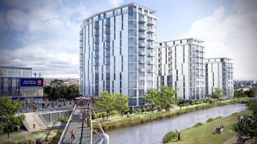 An artists impression of the development at Chelmsford
