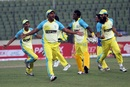 Duronto Rajshahi players celebrate after their two-run win, Chittagong Kings v Duronto Rajshahi, BPL 2012-13, Mirpur, January 19, 2013