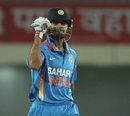 Virat Kohli celebrates India's seven-wicket win, India v England, 3rd ODI, Ranchi, January 19, 2013