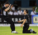 Nathan McCullum (right) was outstanding in the field, South Africa v New Zealand, 2nd ODI, Kimberley, January 22, 2013