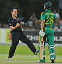 Nathan McCullum enjoys another wicket, South Africa v New Zealand, 2nd ODI, Kimberley, January 22, 2013
