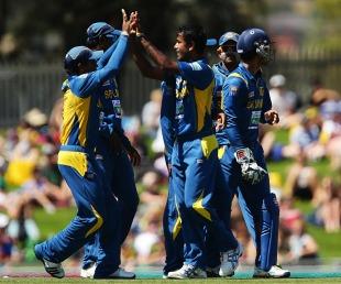 Nuwan Kulasekara dismissed Matthew Wade for 23, Australia v Sri Lanka, 5th ODI, Hobart, January 23, 2013
