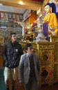 Kevin Pietersen at the Namgyal Monastery in Dharamsala