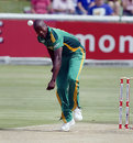Lonwabo Tsotsobe claimed two wickets in his first spell