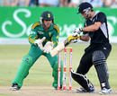 Grant Elliott plays the cut shot, South Africa v New Zealand, 3rd ODI, Potchefstroom, January 25, 2013