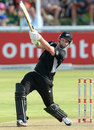 Colin Munro goes through the off side, South Africa v New Zealand, 3rd ODI, Potchefstroom