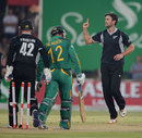 James Franklin broke the opening stand by removing Quinton de Kock, South Africa v New Zealand, 3rd ODI, Potchefstroom