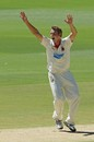 Joe Mennie appeals for a wicket, South Australia v Victoria, Sheffield Shield, Adelaide, 1st day, January 24, 2013