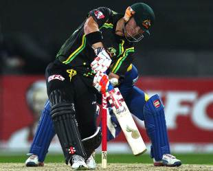 David Warner led Australia's charge, Australia v Sri Lanka, 1st T20, Sydney, January 26, 2013