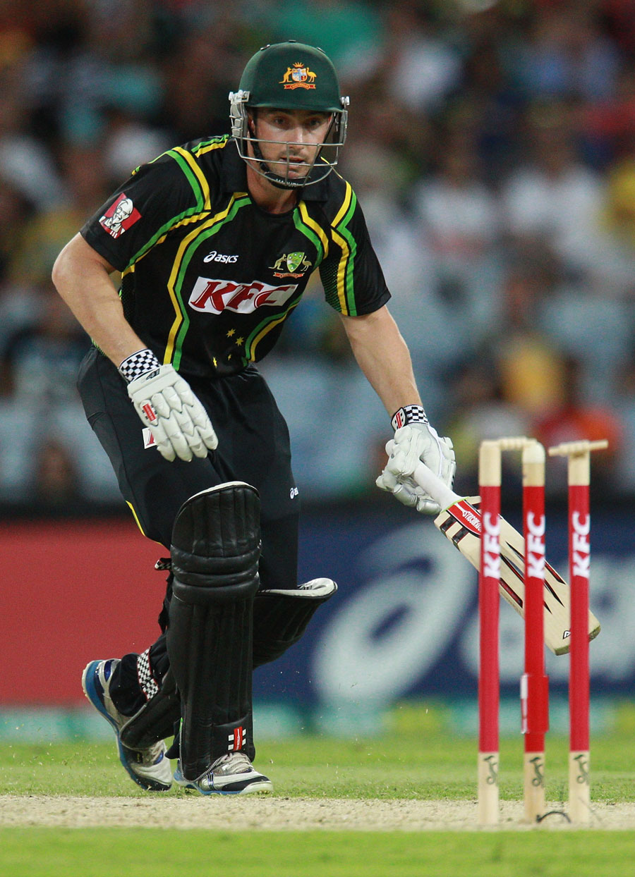 Shaun Marsh looks on after being run-out by Tillakaratne Dilshan
