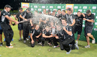 New Zealand soak in that winning feelingy, South Africa v New Zealand, 3rd ODI, Potchefstroom, January 25, 2013