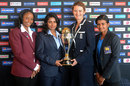 West Indies, India, England and Sri Lanka captains pose with the trophy, ICC Women's World Cup, Mumbai, January, 27, 2013