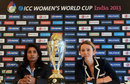 Charlotte Edwards and Mithali Raj talk to the press, ICC Women's World Cup, Mumbai, January, 27, 2013