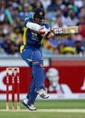 Kushal Perera pulls one to the leg side