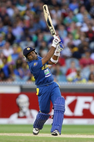 Mahela Jayawardene top scored for Sri Lanka