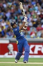 Mahela Jayawardene lofts one straight down the ground