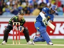 Jeevan Mendis was involved in a 63-run stand with Mahela Jayawardene for the fourth wicket, Australia v Sri Lanka, 2nd T20, Melbourne, January 28, 2013