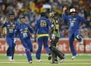 Sri Lanka celebrated passionately after clinching a last-ball win against Australia